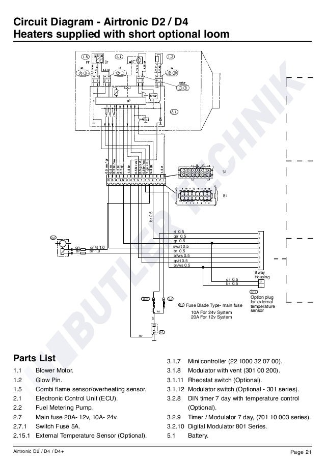 eberspacher airtronic d2 instructions rh slideshare net Schematic Circuit Diagram Wiring Diagram Symbols